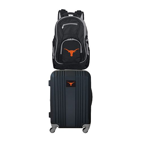 Texas Longhorns Wheeled Carry-On Luggage & Backpack Set