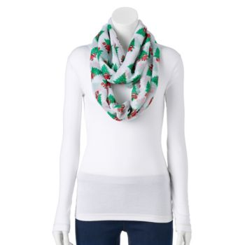 Silly Santa Claus Under the Tree Infinity Scarf