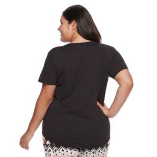 Plus Size SO® Graphic Pajama Tee