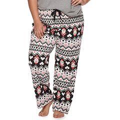 Plus Size SO® Printed Pajama Pants