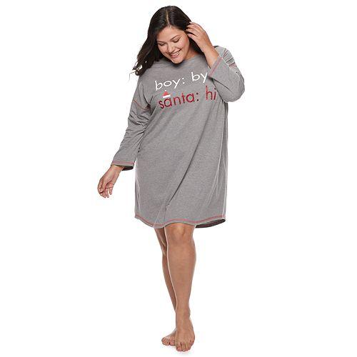 Plus Size SO® Graphic Holiday Sleepshirt