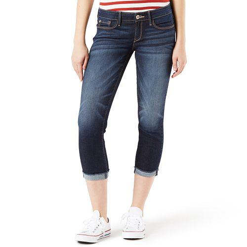 Juniors' DENIZEN from Levi's Low Rise Slim Crop Jeans