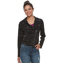Juniors' Candie's® Knit Moto Jacket