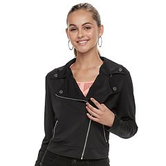 Juniors' Candie's® Knit Moto Jacket