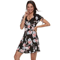 Juniors' Love, Fire Floral Swing Dress