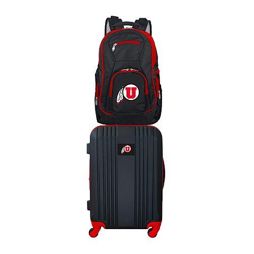 Utah Utes Wheeled Carry-On Luggage & Backpack Set
