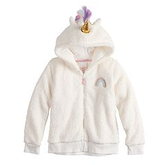 Girls 4-12 Jumping Beans® Unicorn Plush Hoodie