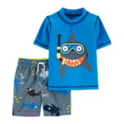 Baby Boy Carter's Snorkeling Shark Rash Guard & Swim Shorts Set