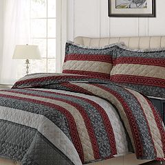 Tribeca Living Oversized Flannel Quilt Set