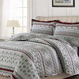 Tribeca Living Oversized Flannel Quilt Set