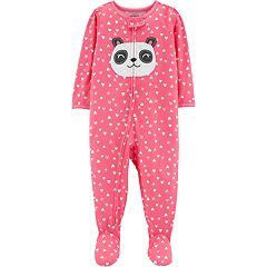 Baby Girl Carter's Panda Bear Footed Pajamas