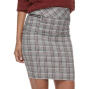 Juniors' Joe B Plaid Millennium Pencil Skirt