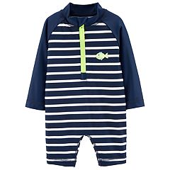 Baby Boy Carter's Striped One Piece Rash Guard