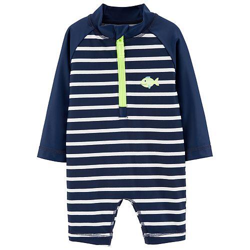 cfb4bfe47 Baby Boy Carter s Striped One Piece Rash Guard