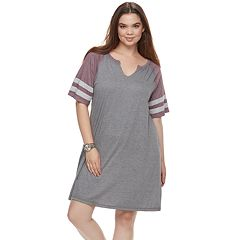 Juniors' Plus Size SO® Varsity Striped Dress