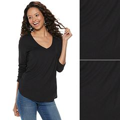 Juniors' SO® 2-Pack Perfect V-Neck Tee