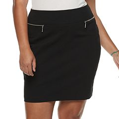 Juniors' Plus Size Joe B Zipper Pocket Skirt