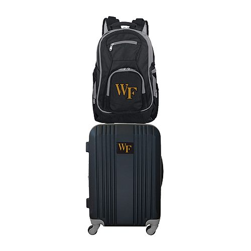 Wake Forest Demon Deacons Wheeled Carry-On Luggage & Backpack Set