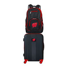 Wisconsin Badgers Wheeled Carry-On Luggage & Backpack Set