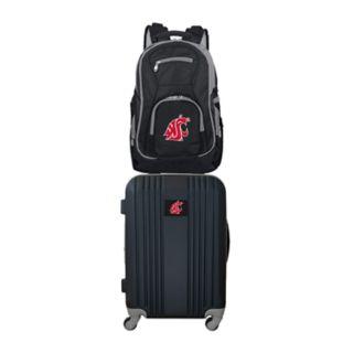 Washington State Cougars Wheeled Carry-On Luggage & Backpack Set