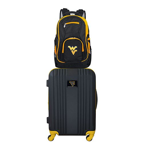 West Virginia Mountaineers Wheeled Carry-On Luggage & Backpack Set