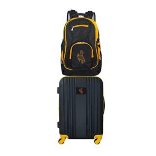 Wyoming Cowboys Wheeled Carry-On Luggage & Backpack Set