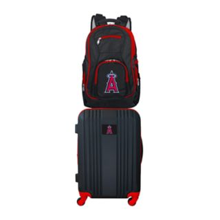 Los Angeles Angels of Anaheim Wheeled Carry-On Luggage & Backpack Set