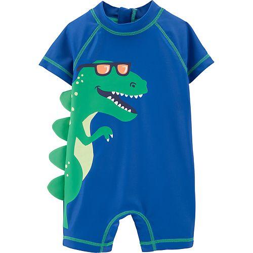 df161ad9f6 Baby Boy Carter's Dinosaur One Piece Rashguard