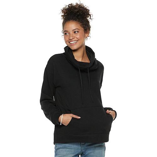 Juniors' SO® Fleece Cowlneck Sweatshirt