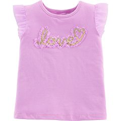 Baby Girl Carter's Sequined 'Love' Tulle Tee