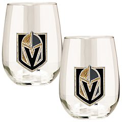 Vegas Golden Knights 15- Ounce Stemless Wine Glass Set