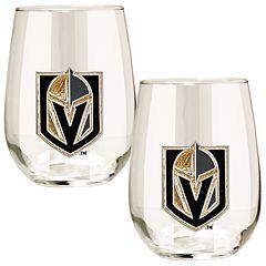Vegas Golden Knights 15- Ounce Stemless Wine Glass Set