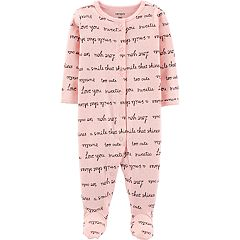 Baby Girl Carter's Pointelle 'Love You' Sleep & Play