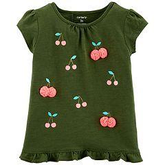 Baby Girl Carter's Cherry Ruffle-Back Tee