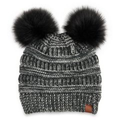 Women's SO® Marled Double Pom Pom Beanie