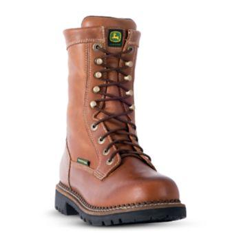 John Deere Logger Men's Waterproof 8-in. Work Boots