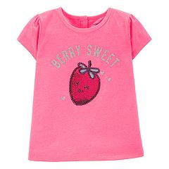Baby Girl Carter's 'Berry Sweet' Sequin Strawberry Graphic Tee