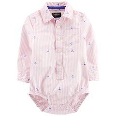 Baby Boy OshKosh B'gosh® Anchors Button Front Bodysuit