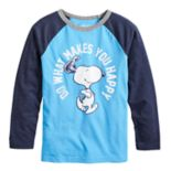"Boys 4-12 Jumping Beans® Retro Peanuts Snoopy ""Do What Makes You Happy"" Raglan Graphic Tee"