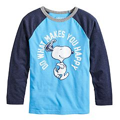 Boys 4-12 Jumping Beans® Retro Peanuts Snoopy 'Do What Makes You Happy' Raglan Graphic Tee
