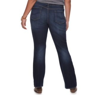 Juniors' Plus Size SO® Low-Rise Bootcut Jeans