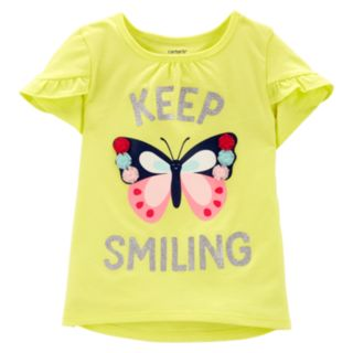 """Baby Girl Carter's """"Keep Smiling"""" Butterfly Top"""