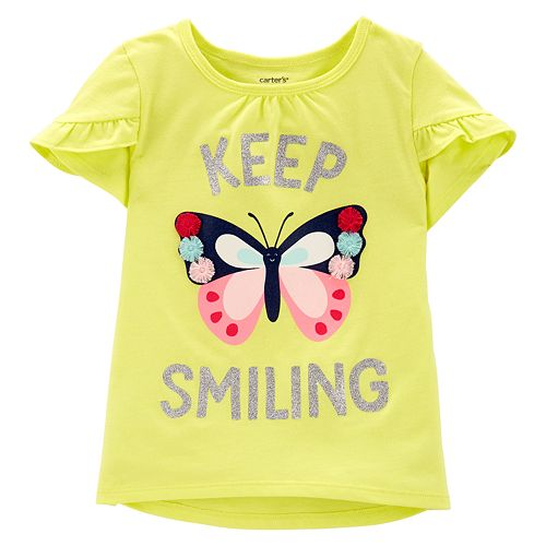 "Baby Girl Carter's ""Keep Smiling"" Butterfly Top"