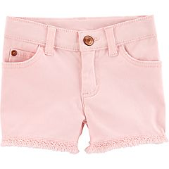 Baby Girl Carter's Fringe-Hem Twill Shorts