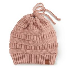 Women's SO® Knit Messy Bun Beanie