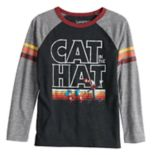 Boys 4-12 Jumping Beans® Retro Dr. Seuss The Cat in the Hat Striped Raglan Tee