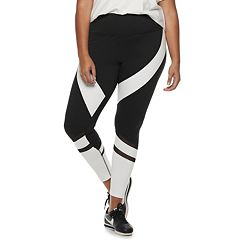 Juniors' Plus Size SO® Colorblock High-Waisted Yoga Leggings