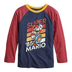 Boys 4-12 Jumping Beans® Retro Super Mario Bros. '85 Raglan Graphic Tee