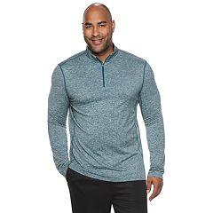 Big & Tall Tek Gear® Stretch Jersey Quarter-Zip Pullover