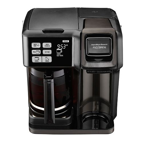 Hamilton Beach Flexbrew 2 Way Black Stainless Coffee Maker